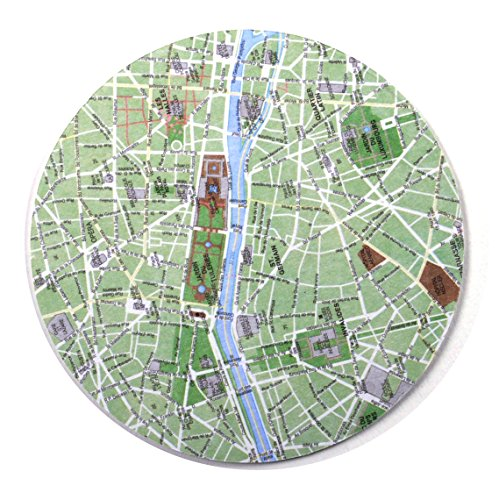 Design Ideas 10 Piece Paris Map Coaster Set