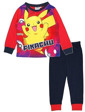 Boys Kids Official Pokemon Pikachu Pyjamas PJ Set Nightwear Size Age 4//5