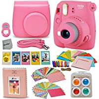 Fujifilm Instax Mini 9 Instant Fuji Camera (Flamingo...