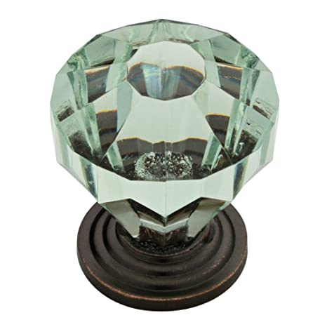 Liberty P30122-CHC-C Acrylic Faceted Kitchen Cabinet Hardware Knob Chrome & Clear - Cabinet And Furniture Knobs - Amazon.com