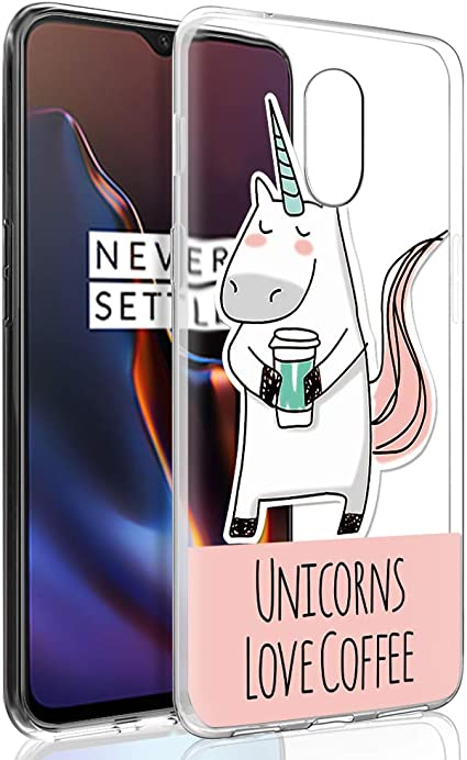 ZhuoFan Oneplus 6T Case, Phone Case Transparent Clear with Pattern ...