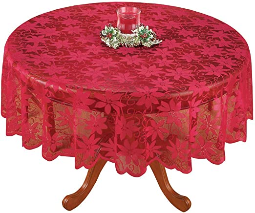Merry Christmas Red Tablecloth Polyester Table Cloth Xmas Party Catering Dining