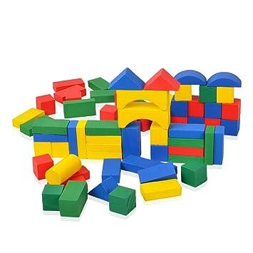 100 bunte Bauklötze aus Holz Holzspielzeug Spielzeug Aufbewahrungsbox Bausteine Holzspielzeug