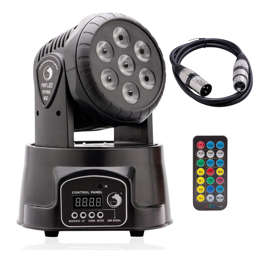 UKing Moving Head light 70W RGBW Mix Effect Lighting with DMX512 and Remote Control for DJ Disco Party Club