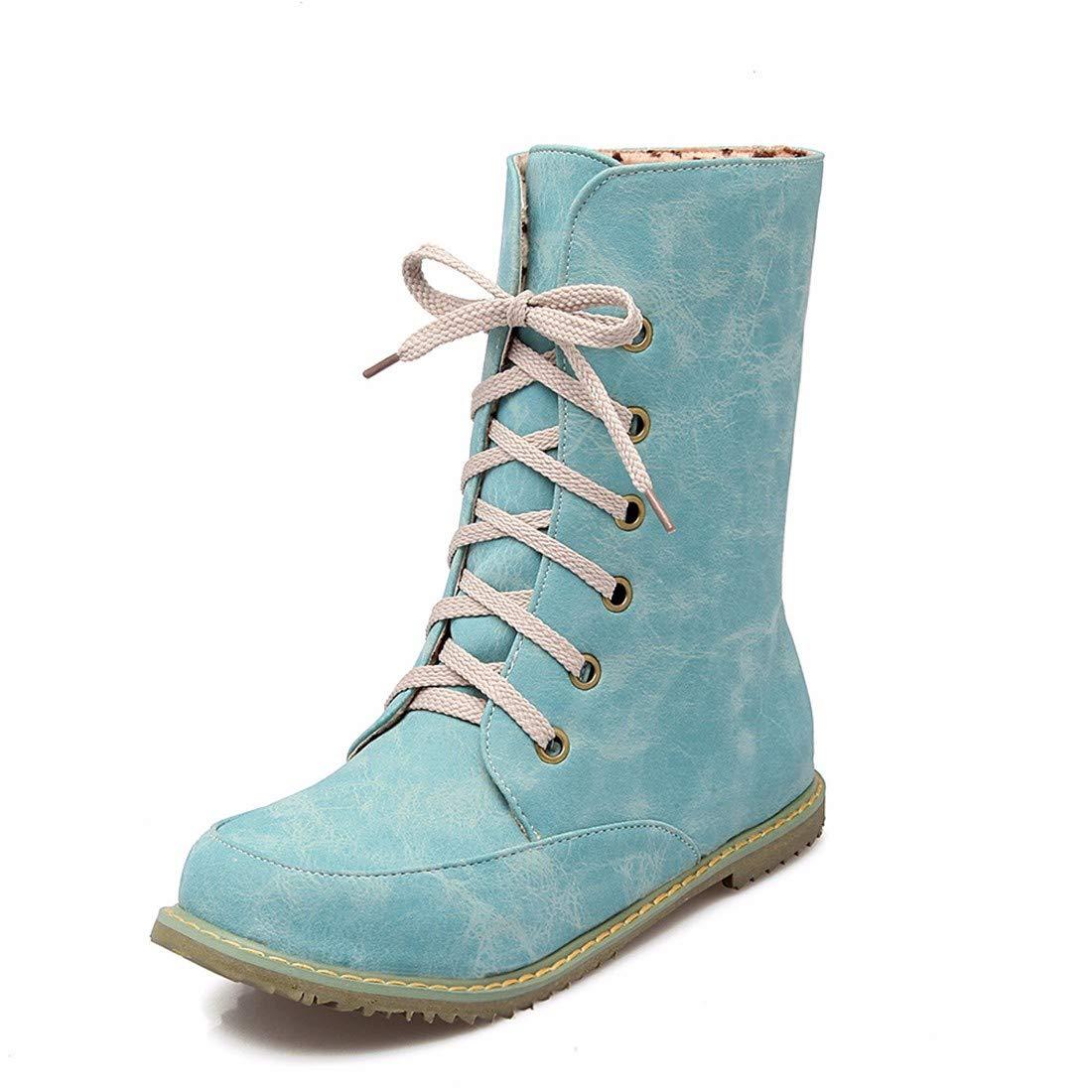 AIKAKA Frauen Herbst und Winter Europa und Amerika Sexy warme Schuhe Kurze Stiefel Martin Stiefel