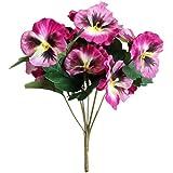 Deco 20 x Artificial Pansy Flowers PINK Silk Flowers streudeko Tinker