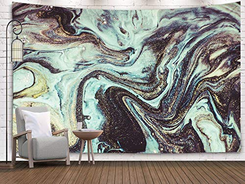 Sertiony Hanging Wall Tapestry, Art Map Tapestry Décor 80x60 Inches of Designing Art Swirls Marble and The Ripples Agate Art Natural Pattern for Bedroom Colorful Big Tapestries