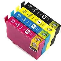 4X Generic Epson 39XL 39 Ink Cartridges for Epson Expression Home XP2105 XP4105 (1 Set, Cyan, Magenta, Yellow, Black)