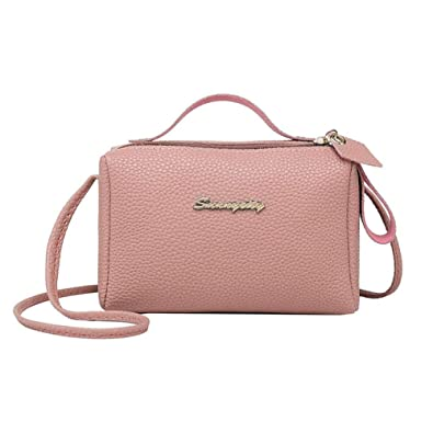 d6da436f79 Image Unavailable. Image not available for. Color  Square Litchi Pattern Shoulder  Handbags Women PU Leather Messenger Bags Fashion Leisure ...