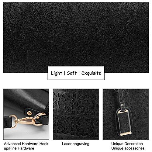 Handbags Classic Bag Work Leather Tote Travel Large Tote Bags Purse PU for Women Capacity SAMSHOWME Shoulder Ladies Black Ua8Aq8