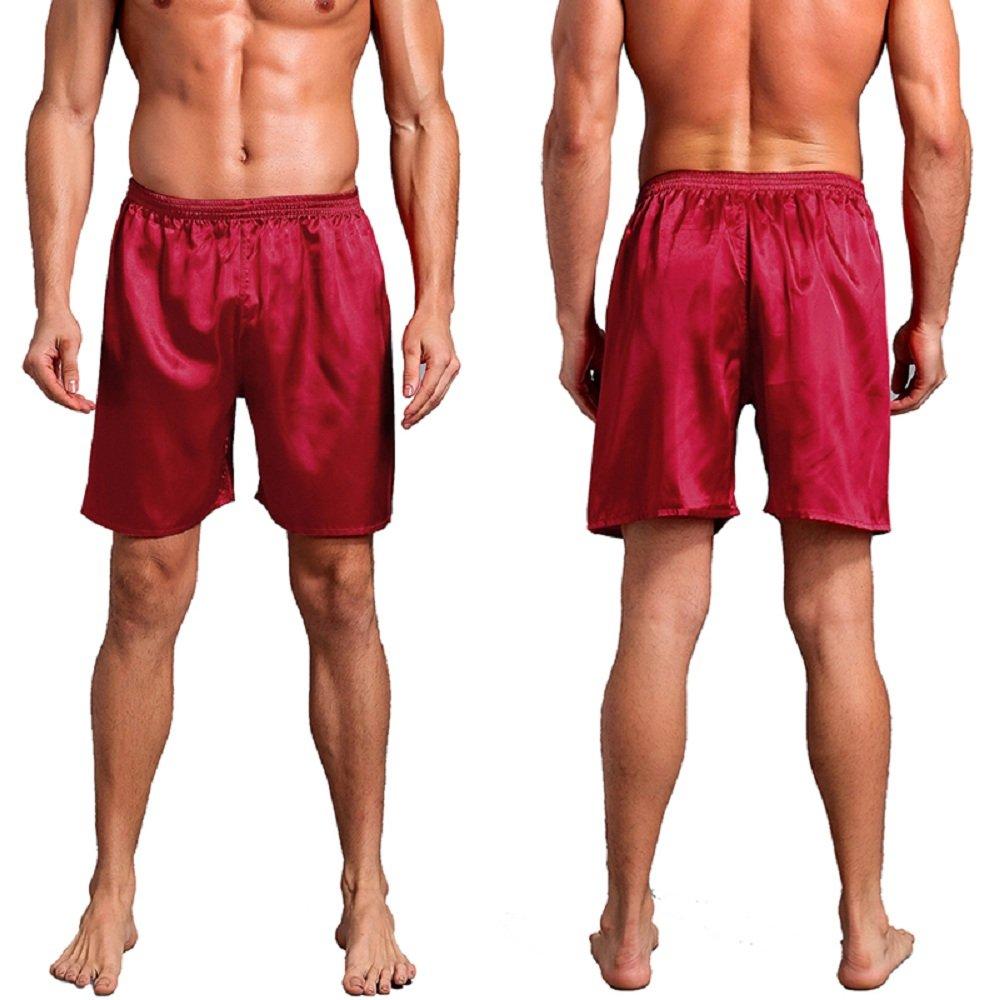 Bowant Mens Elastic Smooth Silk Satin Pajamas Sleep Shorts Sleepwear  Loungewear Underwear at Amazon Men s Clothing store  6e85ff520