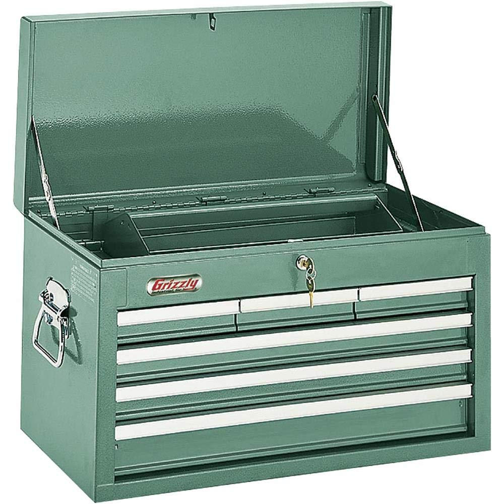 Grizzly H0838 6 Drawer Top Chest with Bal Length Bearing Slides