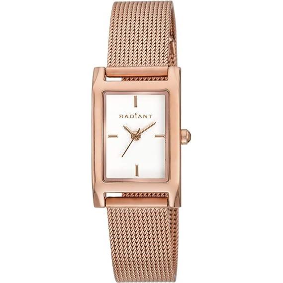 Reloj Radiant GOLDBAR RA464203 Mujer Blanco: Radiant New: Amazon.es: Relojes
