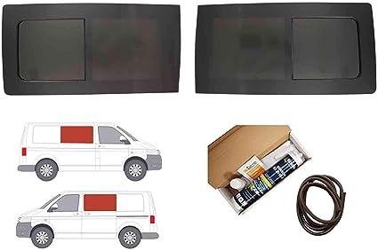 Mano izquierda ventana abatible para puerta corredera, tintado oscuro VW TRANSPORTER T5 (2003 – 2015): Amazon.es: Coche y moto