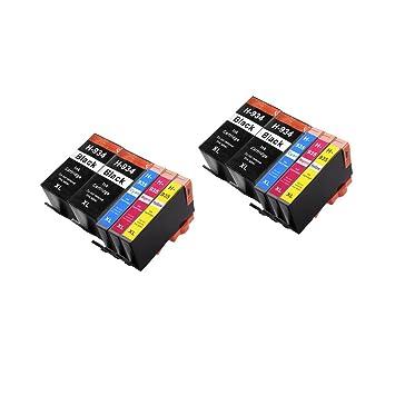 10 ECS Compatible Cartuchos de Tinta reemplazar 934 XL 935 X L ...