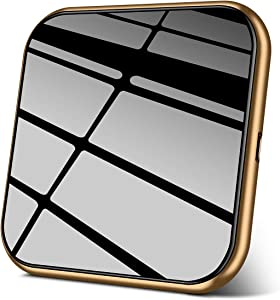 AmyZone Quick Cordless Charger Wireless Charging Pad Slim Aluminum Case-Friendly Qi Compatible iPhone 11/11 Pro/11 Pro Max/8/X/XS Max Samsung Galaxy S10/S9/S8 Google Pixel LG Qi-Enabled Series (Gold)