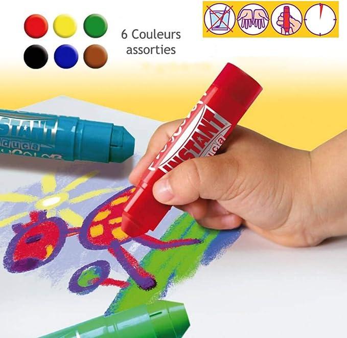 Playcolor uno 10g Solid Cartel Pintura Stick Pack de 6