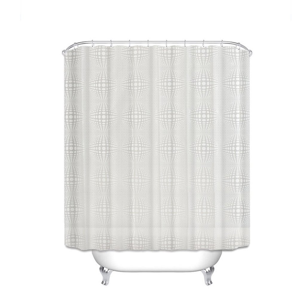 Curtain Shower Curtain, Waterproof Thickening Shower Curtain, Scrub Translucent, Quick-Drying, Mildew Shower Curtain, to Send Hooks Shower Equipment (Size : 180180cm)