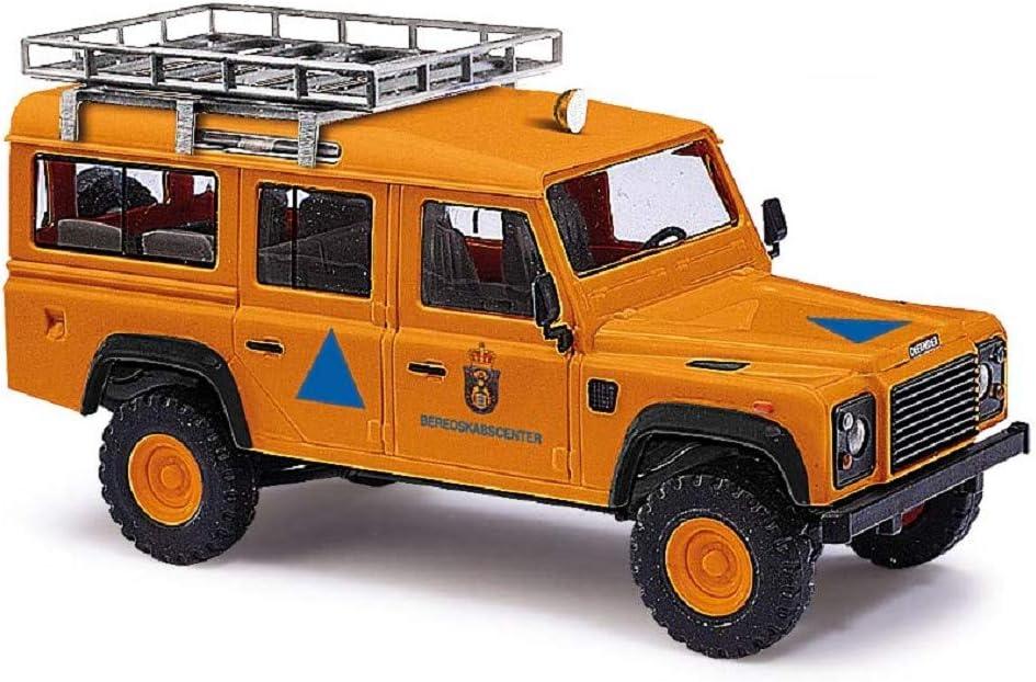 Busch 50364 - Land Rover Defender 110 Protección Civil danesa - Escala 1/87 - Modelo Todoterreno - modelismo ferroviario: Amazon.es: Juguetes y juegos
