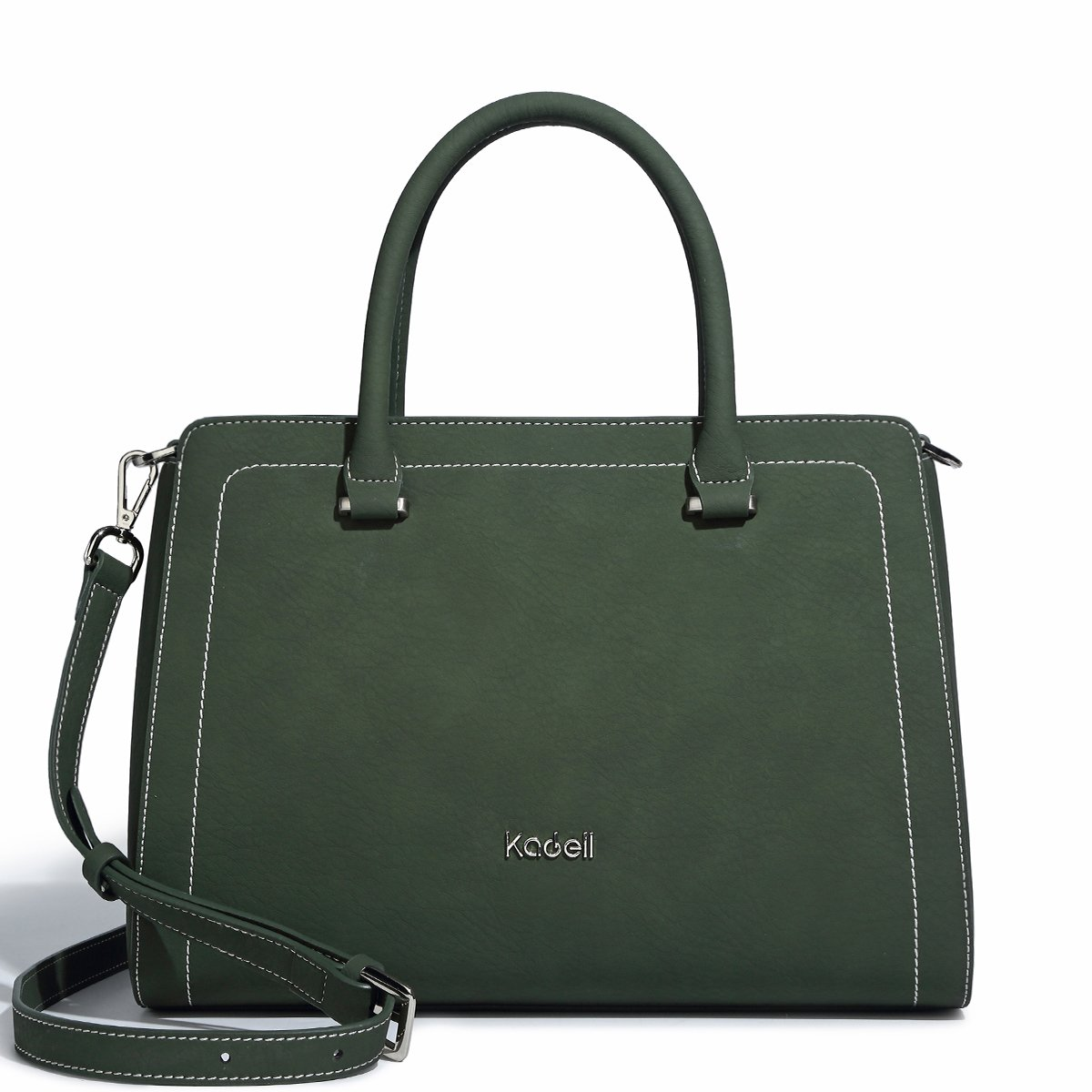 Kadell 2018 Women Leather Handbags For Women's Shoulder Top Handle Tote Bags Army Green-1