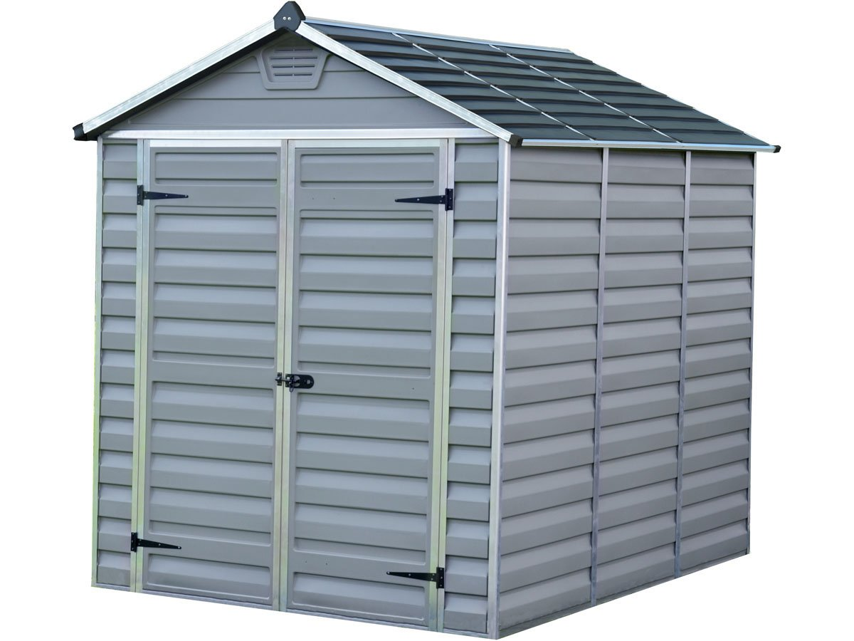 Palram - Abrigo de jardín policarbonato Skylight - 4.25 m² - gris: Amazon.es: Jardín
