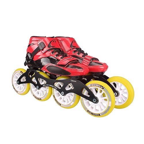 Ailj Patines, Zapatos Profesionales De Patinaje De Velocidad, Patines De Los Niños Adultos, Patines En Línea, Zapatos De Carreras De Ruedas Grandes: ...