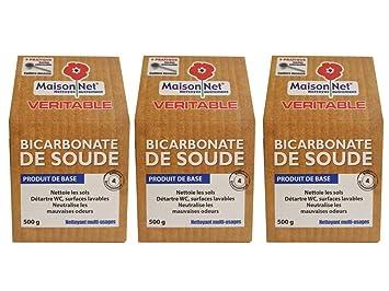 Maison Net Bicarbonate De Soude 500 G Lot De 3