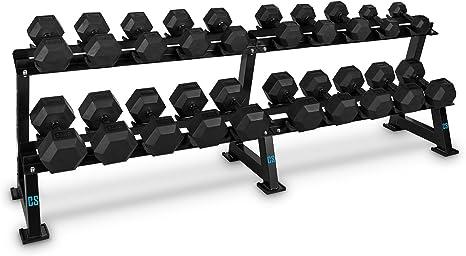 CapitalSports Dumbbell Rack Set (Rack para Guardar Pesas, 10 Pares de Mancuernas de 5 a 30 kg, Entrenamiento musculación): Amazon.es: Deportes y aire libre
