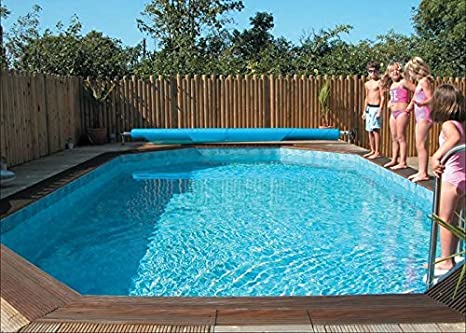 Plastica lienzo piscina octogonal de madera 8,1 m x 4,6 m Westminster: Amazon.es: Hogar