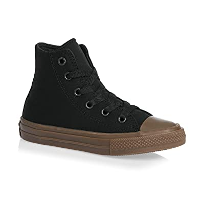 241559f54bbf Converse Chuck Taylor All Star II Hi Black Gum Textile Junior Trainers   Amazon.fr  Chaussures et Sacs