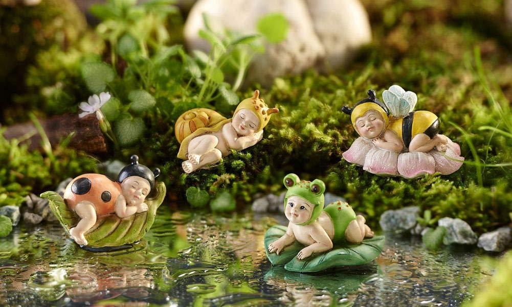 Fairy Garden Mini - Sleeping Dress-Up Fairy Babies - Set of 4