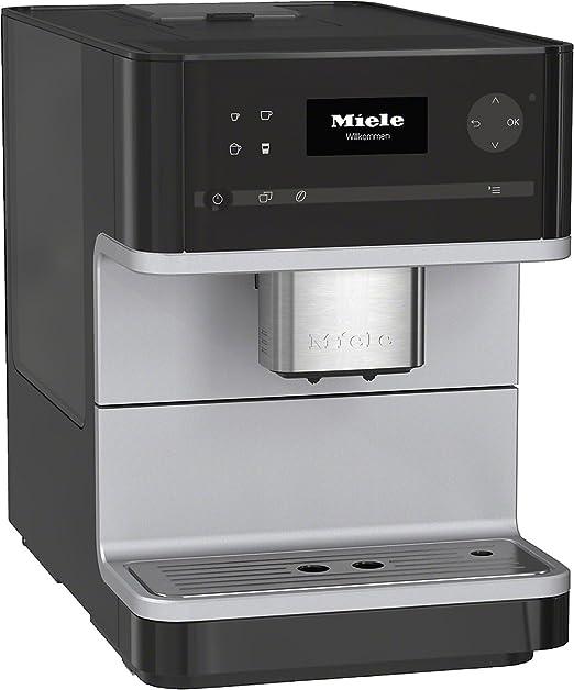 Miele CM 6100 - Cafetera (Incorporado, Negro, Sensor, Granos de café, Café con leche, Caffe lungo, Capuchino, Café, Café expreso, Leche caliente, Latte macchiato, 1,8L): Amazon.es: Hogar