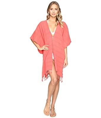 3397757ac0 Hat Attack Women's Beach Poncho Cover-Up Coral Swimsuit Top at ...