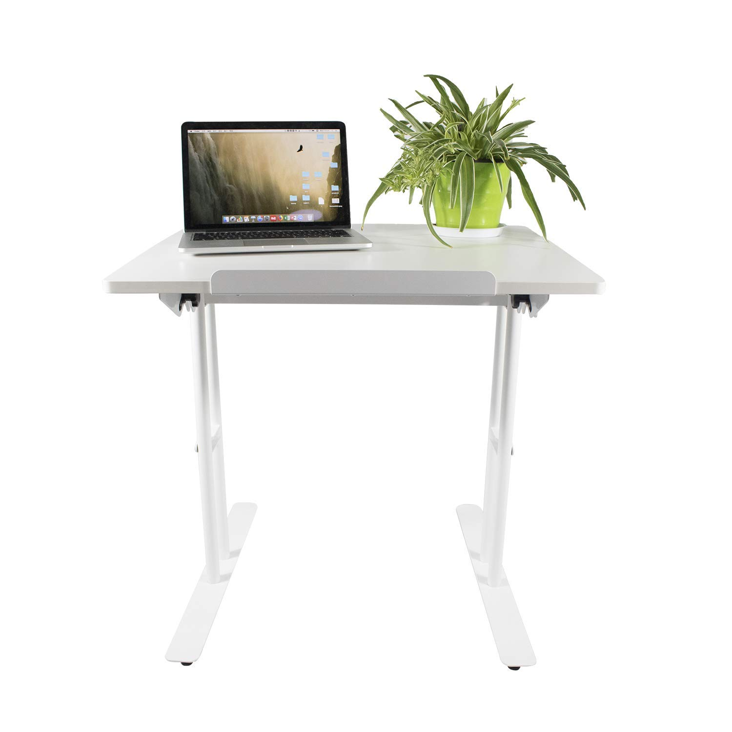 Design Furniture Collection Notebook Computer Adjustable Table Standing Desk Writing Study Desk Home Office (White)