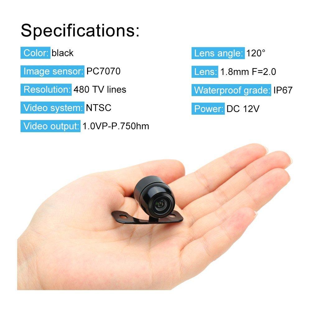 KKMOON Etanche Cam/éras miniatures HD Mini Arri/ère de Voiture Cam/éra de Recul Inverse Syst/ème de Stationnement