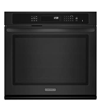 KitchenAid KEBS109BBL Architect II 30u0026quot; Black Electric Single Wall Oven    Convection