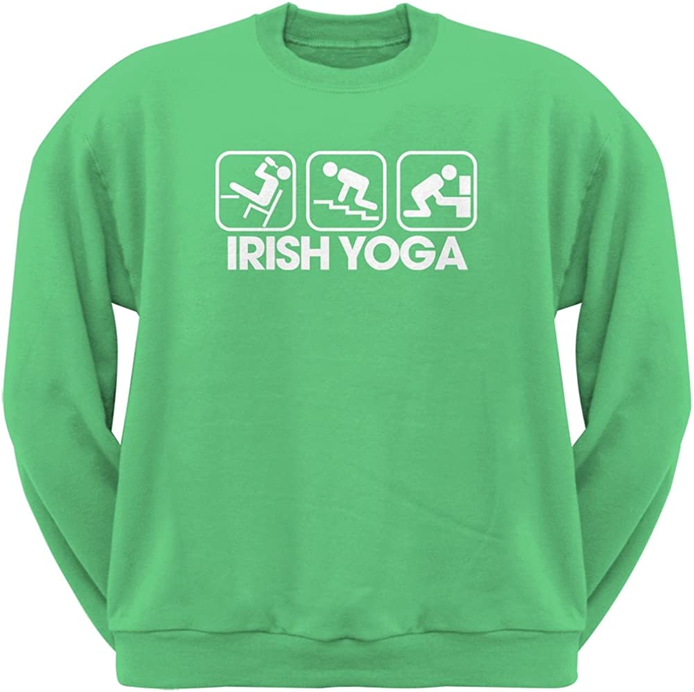 Patricks Day Irish Yoga Irish Green Adult Sweatshirt Old Glory St