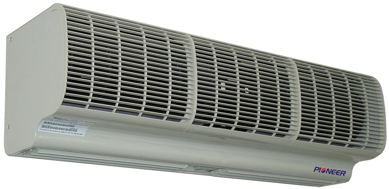 Pioneer Air Curtain, 60'' Coverage (5 Feet), Heavy Duty Commercial Design, High Velocity, Includes Remote Control and Door Switch