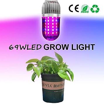 YUN Grow Light@ LED Cultivo Lámpara De Plantas 69W E27 Bombilla con Luz Roja De