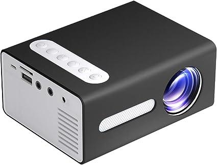 Opinión sobre Ajcoflt Proyector LED para el hogar T300 Mini dispositivo de proyección portátil con pantalla L TFT óptica de enfoque corto con resolución de 320 * 240
