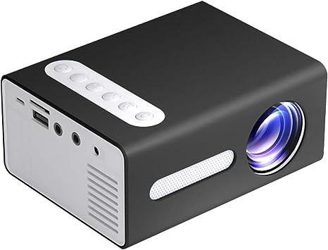 Opinión sobre Proyector doméstico,Entweg Proyector LED para el hogar T300 Mini dispositivo de proyección portátil con pantalla LCD TFT óptica de enfoque corto con resolución de 320 * 240