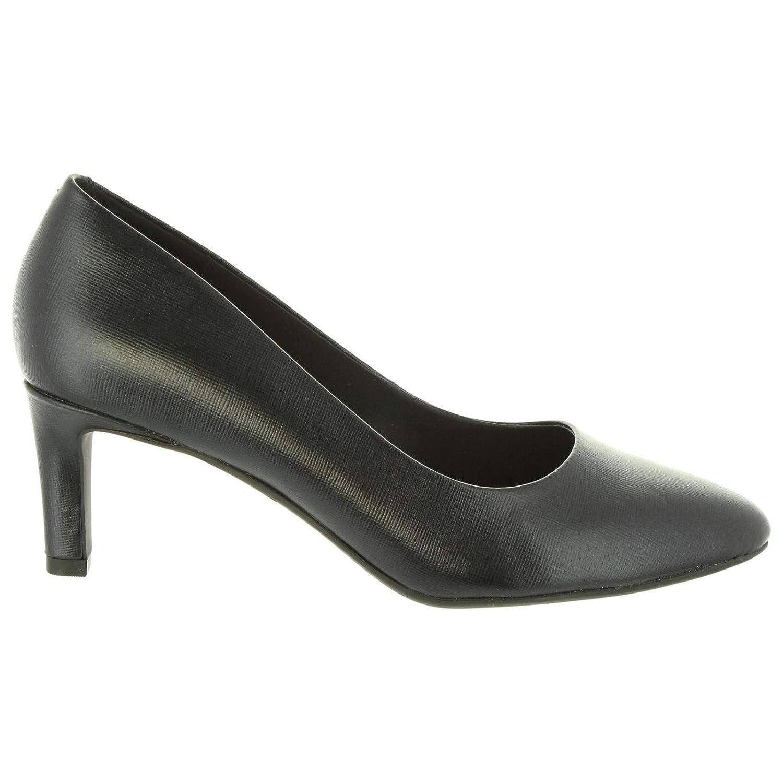 Clarks Schuhe Ferse für Damen 26131857 Calla schwarz Leather Schuhgröße 39
