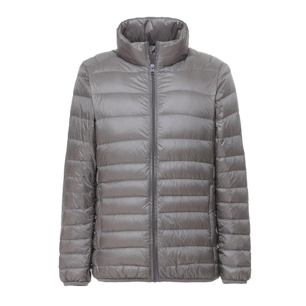 Lanbaosi Men's Ultra Light Weight Stand Collar Packable Short Down Jacket