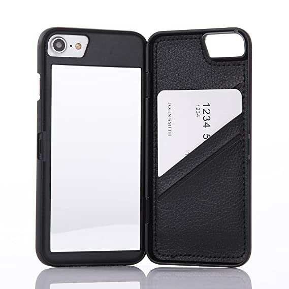 amazon com wetben case for iphone 8,hidden back mirror wallet caseimage unavailable image not available for color wetben case for iphone
