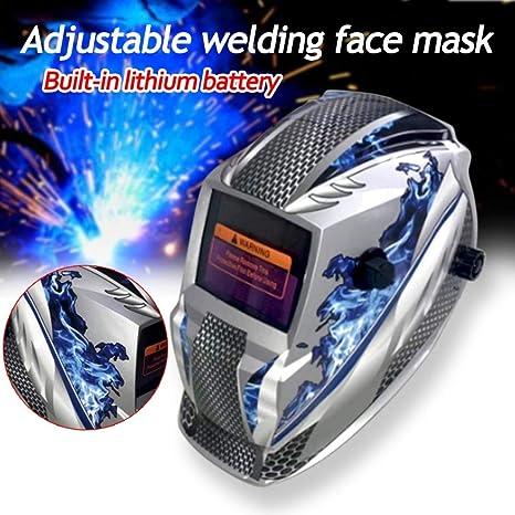 WILLAI máscara de casco de soldadura ajustable solar, auto oscurecimiento, recargable, gafas de