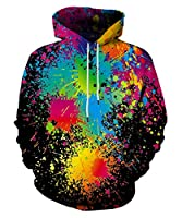 LAIDIPAS Unisex Realistic 3D Printed Big Pockets Pullover Hoodie Sweatshirt