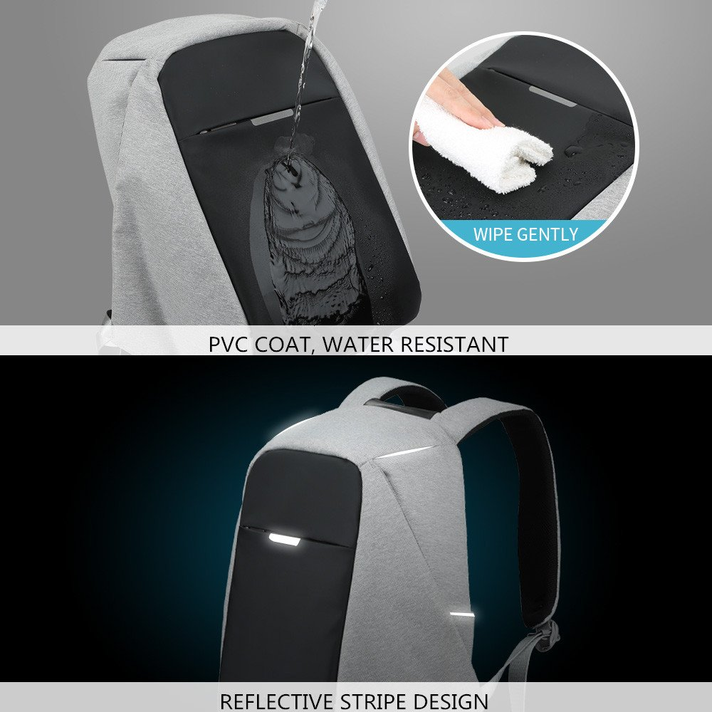 Hidden Zipper Bag with USB Charging Port Theft Proof Backpack Anti-theft Travel Backpack Water Resistant Business Travel Laptop Bag for Student Work Men /& Women by Oscaurt Black SG/_B072ZXD8LD/_US