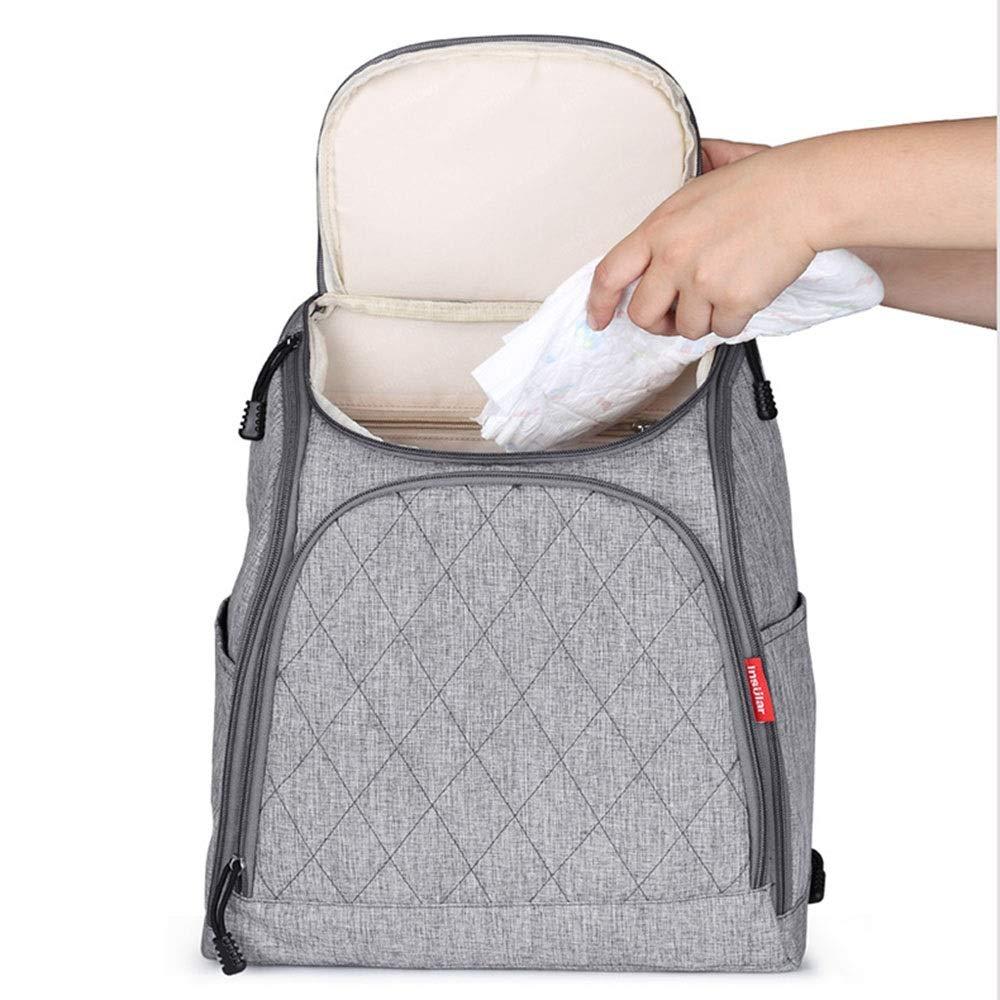 Stroller Organizer Stroller Organizer Bag Diaper Bag Waterproof Travel Backpack for Carrying Bottles, Diapers,Clothing, Toys & Snacks Etc 3 Colors Parents Stroller Organizer Bag by DHUYUN (Image #4)