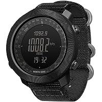 Men's Outdoor Digital Sports Watch with Altimeter Barometer Compass World Time 50M Waterproof Pedometer Wrist Watch
