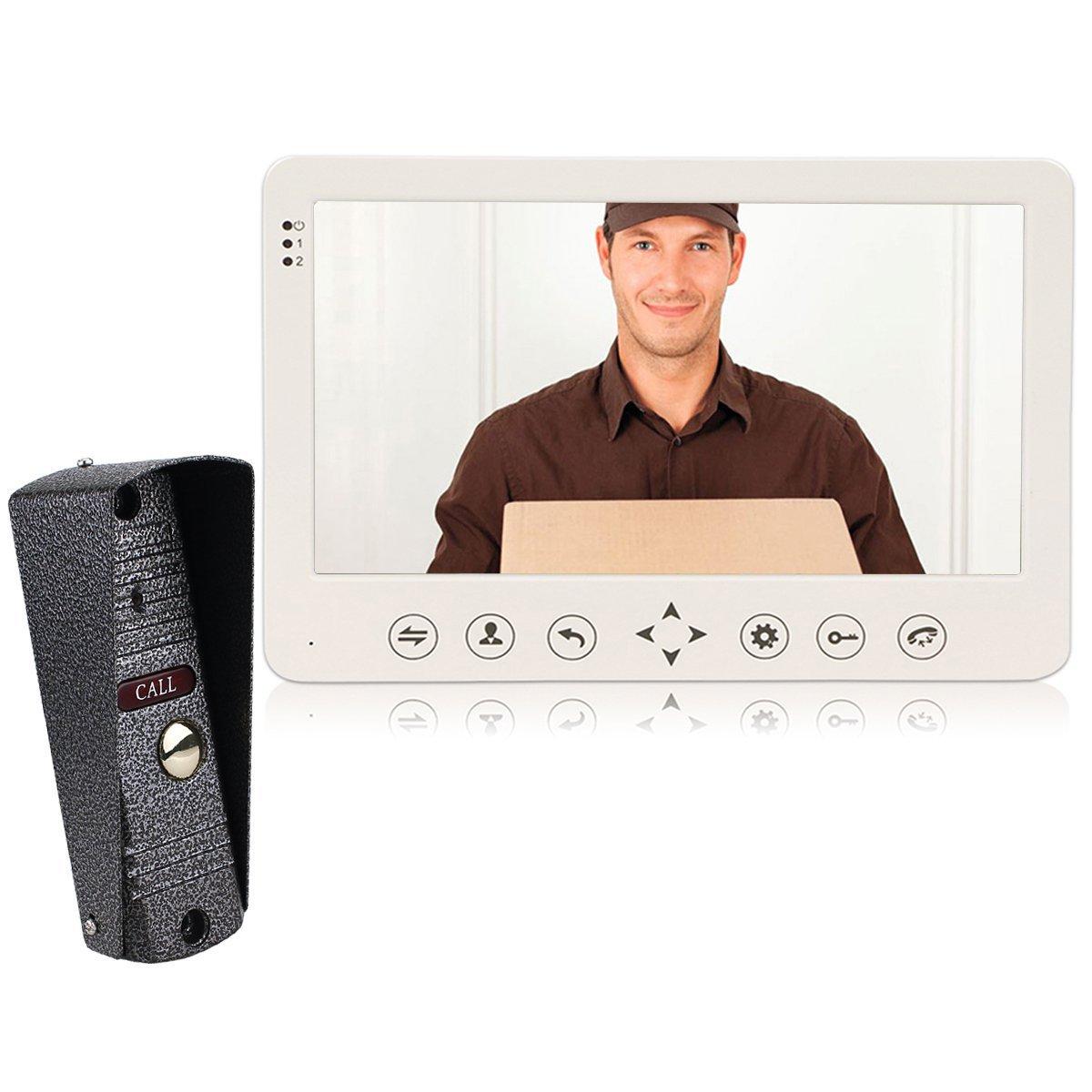 Retekess CP80 Video Door Phone Wired Video Intercom System Night Vision Doorbell Intercom with 1 IR Night Doorbell Camera and 1 Hands Free Monitor Intercom Doorbell (1 Monitor 1 Camera)